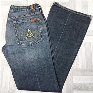 7 For All Mankind A Pocket Boot Cut Jeans Size 31